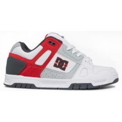 DC Shoes Stag Blanc (White Grey Red)
