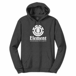 Sweat à Capuche Element Vertical Charcoal Heather (gris foncé)