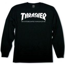 T-shirt Thrasher à manches longues noir