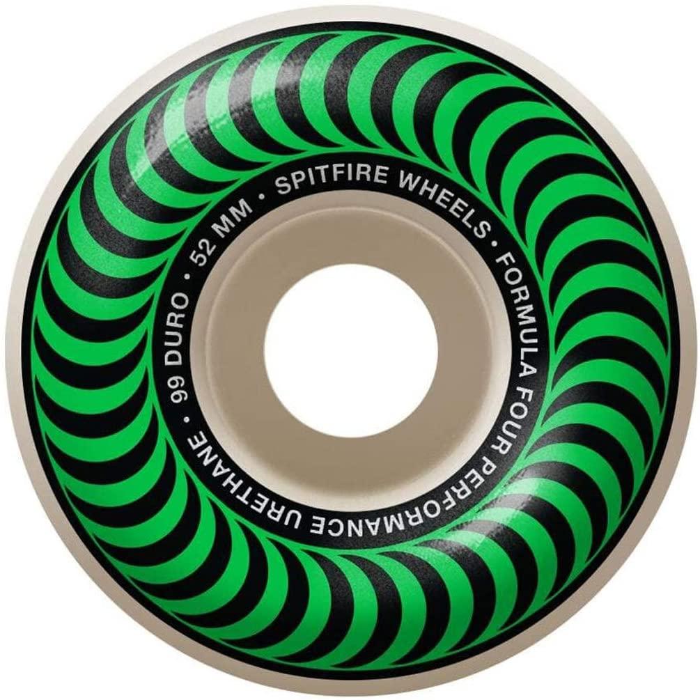 Roues Spitfire Classic vert 52mm