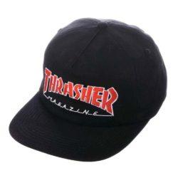 Casquette Thrasher Snapback Outlined Black (noire)