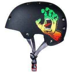 Casque de skateboard Bullet x Santa Cruz Screaming Hand rasta