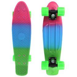 "Skateboard Cruiser Penny Fluro Fades Blue 27"""