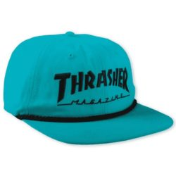 Casquette Thrasher Snapback Rope bleue turquoise (Teal/Black)