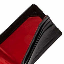 Portefeuille en cuir Nixon Pass Leather Brown (marron) interieur