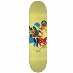 Magenta skateboard Horses Around Gunes Ozdogan deck 8.125″