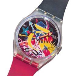 Montre Swatch Rorrim 5 GZ107 paris Tadanori Yokoo (année 1987)