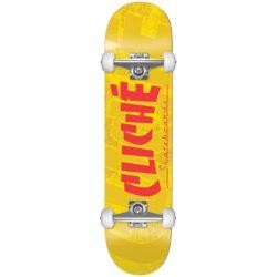 "Skateboard complet Cliché Banco Yellow 7.5"""