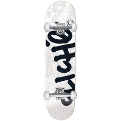 Skateboard complet Cliché Handwritten Blanc 8.25″