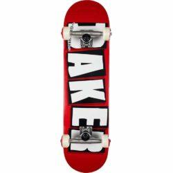 Skateboard complet Baker Brand Logo Factory Rouge/blanc 8.0″
