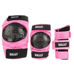 Set de protections skateboard Bullet complet rose