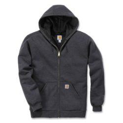 Veste à capuche Carhartt Rutland Thermal-Lined Zip-Front carbon heather