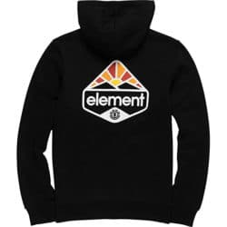 Sweat capuche Zip Element Coretta Flint noir back