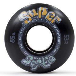 Roues de skateboard Enuff Super Softie noires 53 mm - 85a