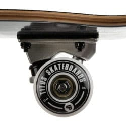 ROUES 52MM Skateboard complet Titus Blackbird Owl Mini Black Grey White 7.5″