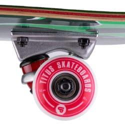"Skateboard Complet Titus Triple Schranz Green en taille deck enfant 6.5"" roues 52mm"