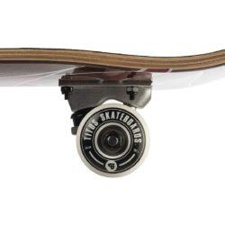 roues 54mm Skateboard complet Titus Blackbird Owl Mini Black Grey White en taille deck 7.75″
