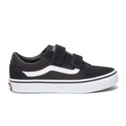 Vans Ward V Velcro Suede Black White enfant