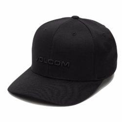 Casquette Volcom Euro Xfit Noire et logo noir