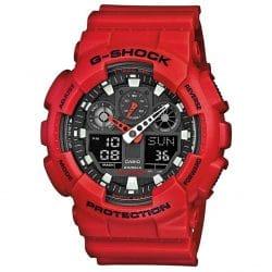 Montre Homme Casio G-SHOCK GA-100B-4AER rouge