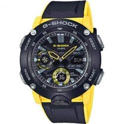 Montre Casio G-SHOCK GA-2000-1A9ER noire et jaune Analogique