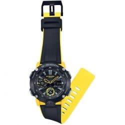 Montre Casio G-SHOCK GA-2000-1A9ER noire et jaune Analogique bracelet
