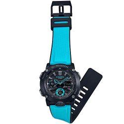 Montre Casio G-SHOCK GA-2000-1A2ER noire et bleue bracelet