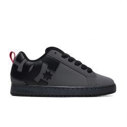 Chaussures DC Shoes Court Graffik (grises) Grey Black Red