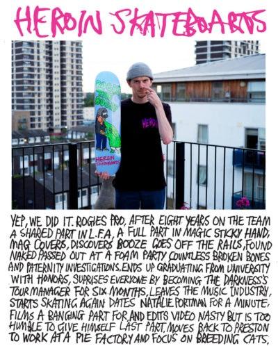 heroin skateboards ads