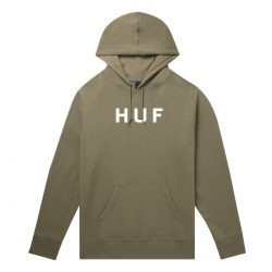 Sweat à capuche HUF Essentials OG Logo Dried Herb (vert)