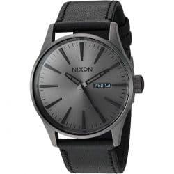 Montre Nixon Centry Leather Gunmetal A105-1531-00