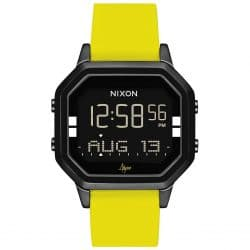 Montre Nixon Siren SS A1211-2972-00 Black Yellow Abyss digitale avec Bracelet en Silicone