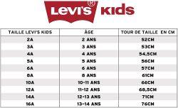 Levi's kids size charts