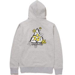 Sweat à capuche HUF Pushing Daisies Triple Triangle Gris (Athletic Heather)
