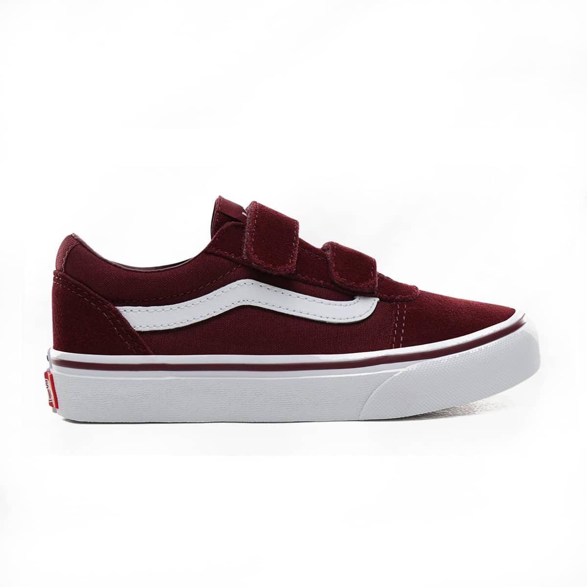 Vans Ward V-Velcro Rouges   Chaussures enfant   Skate.fr