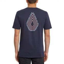 T-Shirt Volcom Radiation BSC bleu marine back