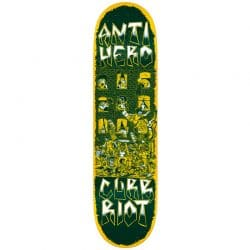 Planche de Skateboard Antihero Team Curb Riot Redux deck 8.12″