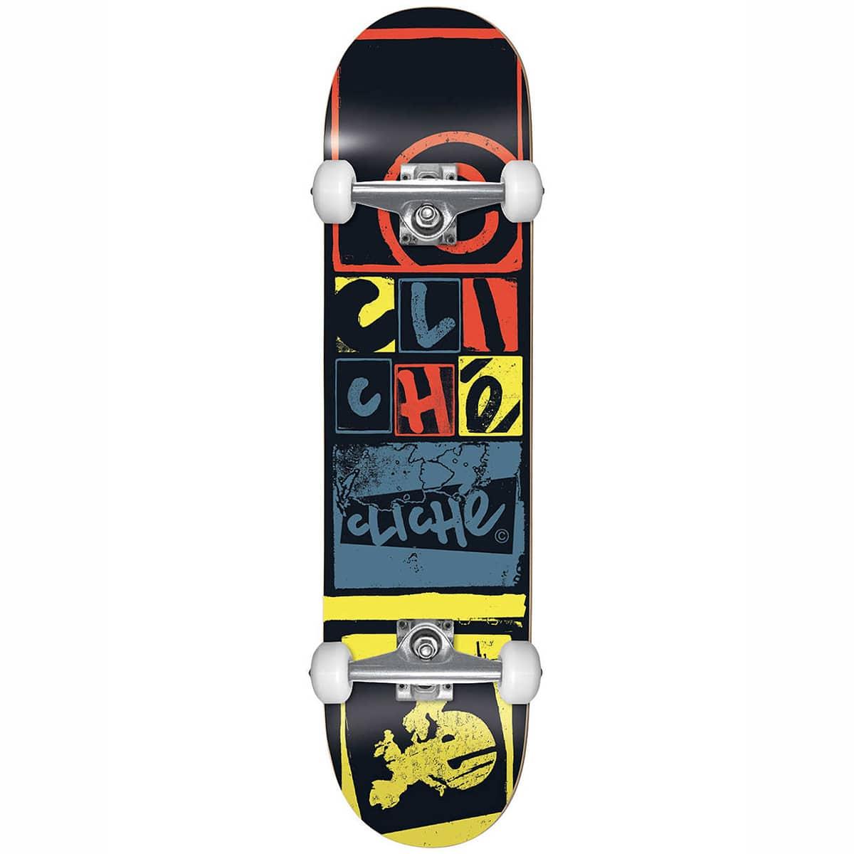 Skateboard complet Cliché Letter Press Black 8.0″