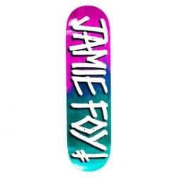 Planche de skateboard Deathwish Foy Gang Name Pink Teal deck 8.125″