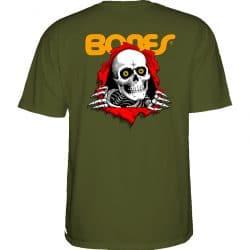 T-shirt Bones Powell Peralta Ripper Military Green