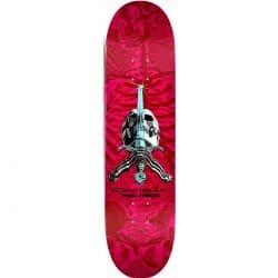 Powell Peralta Skull & Sword Pink Red deck 8.5