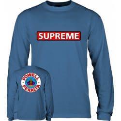T-shirt à manches longues Powell Peralta Supreme bleu (Slate Blue) LS