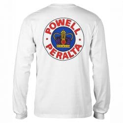 T-shirt à manches longues Powell Peralta Supreme blanc