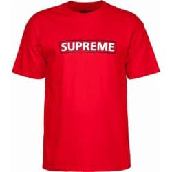T-shirt Powell Peralta Supreme Rouge