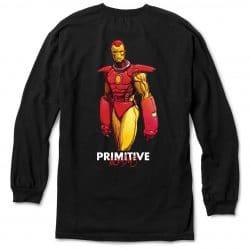 T-shirt à manches longues Primitive Iron Man LS Black back