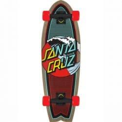 "Skateboard Cruiser Santa Cruz Classic Wave Splice 8.8"""