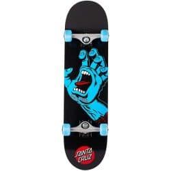 Skateboard complet Santa Cruz Screaming Hand (main bleue) noir 8.0″