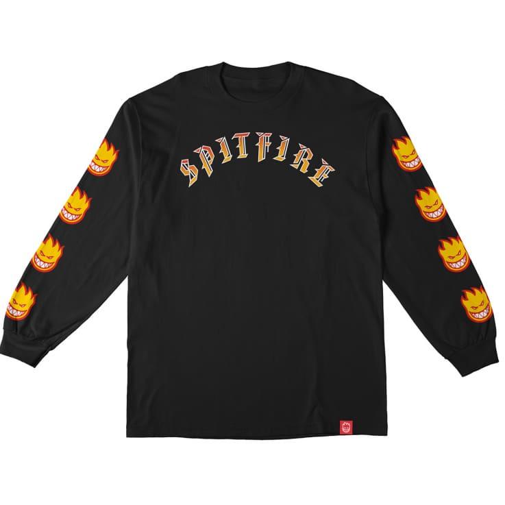 T-shirt manches longues Spitfire Old E Bighead Fill Sleeve LS Black