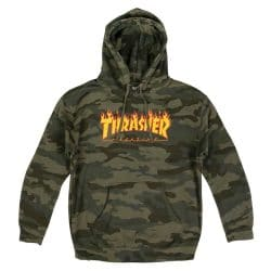 Sweat à capuche Thrasher Flame Hood Forest Camo