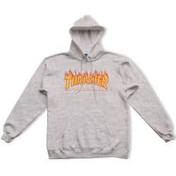 Sweat à capuche Thrasher Flame Hood Gris (Grey)